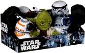 (Mis 1) STAR WARS peluche 17cm - 6 ass - In display da 12....x24