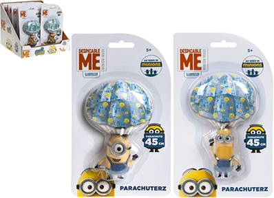 MINION Figura 5cm c/PARACADUTE di 45cm - 3ass - In display da 12pz...x72