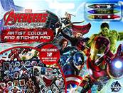 MARVEL AVENGERS Album + stickers pad + 12 fogli stickers + colori...x12
