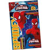 MARVEL (Spiderman) ALBUM A4 da colorare + mini colori....x24