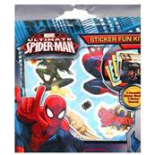 Stickers (4 fogli) fun kit SPIDERMAN riutilizzabili...x24