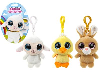 (Mis 0) Portachiavi SPRING COLLECTION - Peluche c/occhioni 12cm - 3ass....x72