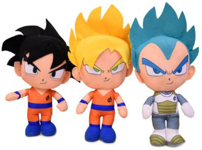 (Mis 1) DRAGON BALL peluche 20cm - In Nilex - 3 ass...x120